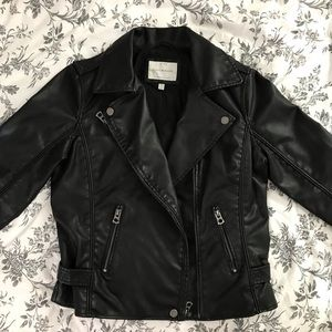 Lucky Brand faux leather motto jacket